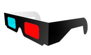 lunettes 3d anaglyphes carton