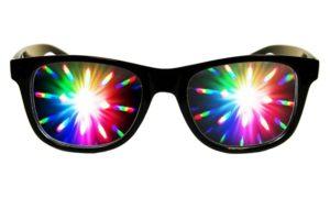 Diffraction plastic glasses