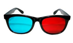 lunettes 3d anaglyphes plastique