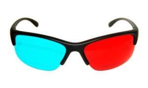 lunettes anaglyhes 3d plastique