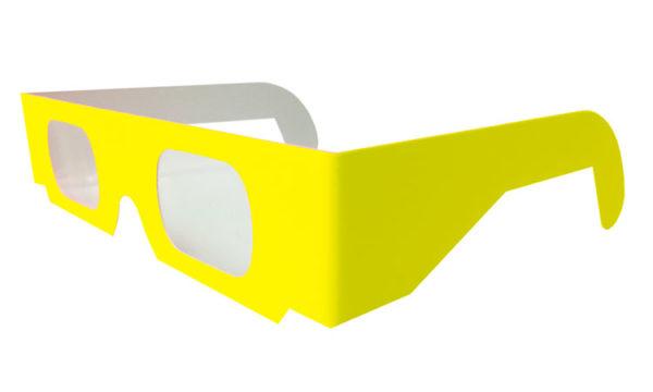 diffraction carton fluo jaune