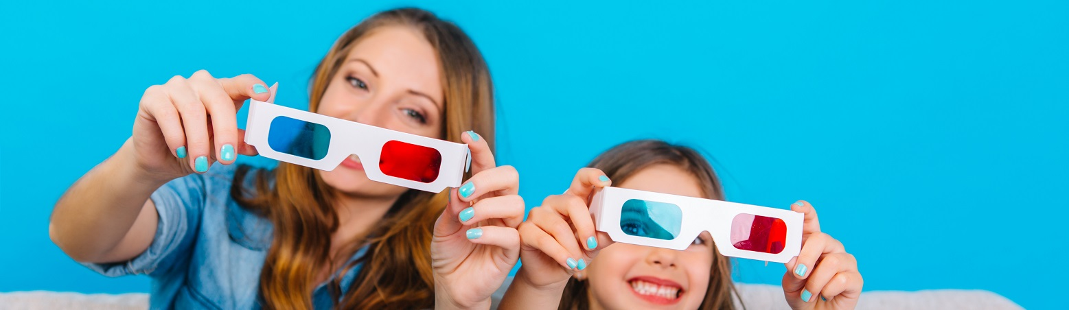 lunettes 3d rouge cyan